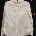 森のモチーフのボタンダウンシャツ(前)