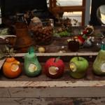秋のフルーツの針山